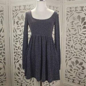 Free People Sparkle Skater Stretch Dress Small